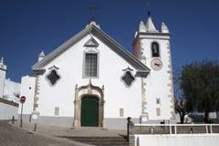 Église dans le village de sommet d'Alte, Portugal Image stock