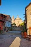 Église dans le village espagnol sur le Montjuic à Barcelone Photo libre de droits
