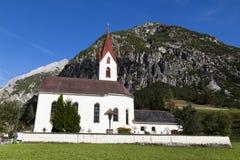 Église dans les montagnes Image stock