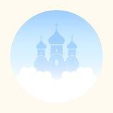 Église dans les nuages Image libre de droits