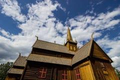 Église dans Lom en Norvège Photos libres de droits