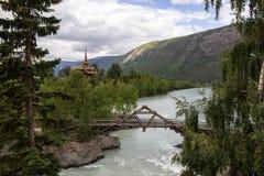 Église dans Lom en Norvège Images libres de droits