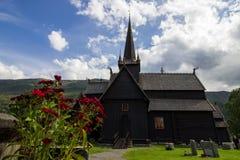 Église dans Lom en Norvège Photographie stock