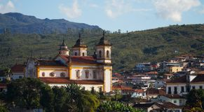 Église dans Ouro Preto, Brésil photos libres de droits