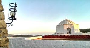 Église dans Patmos Photographie stock