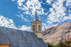 Église dans Pisco Elqui image libre de droits