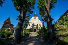 église dans Sighisoara photographie stock libre de droits