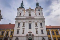 Église dans Uherske Hradiste Images libres de droits