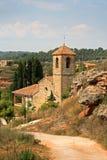 Église dans un villlage catalan Photo libre de droits