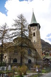 Église dans Zermatt Suisse Photographie stock