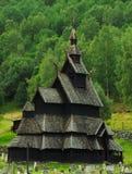 Église de barre dans Borgund, Norvège Images libres de droits