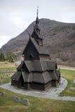 Église de barre de Borgund Image libre de droits