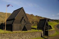 Église de barre sur Heimaey, Islande Photographie stock libre de droits