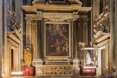 Église de Barroco du Gesu Nuovo, Naples, Italie photos libres de droits