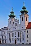 Église de Bencedictine dans le ` r, Hongrie de GyÅ images stock