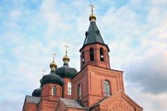 Église de brique rouge Images libres de droits