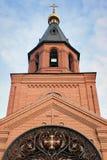 Église de brique rouge Images stock