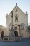Église de capucin à Bratislava Photographie stock libre de droits