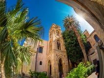 Église de Cataldo de saint dans la capitale de Palerme, partimony architectural de l'Italie photo stock