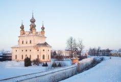 Église de cathédrale d'Arkhangel Michael dans Yuryev-Polsky tôt Photos libres de droits