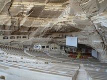 église de caverne du Caire Images stock