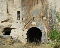 Église de caverne en vallée d'Ihlara (Cappadocia) Photographie stock