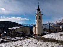 Église de chamois, Italie photographie stock