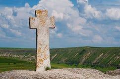 Église de Christian Orthodox dans vieil Orhei, Moldau Images stock