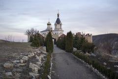 Église de Christian Orthodox dans vieil Orhei Moldau Photo libre de droits