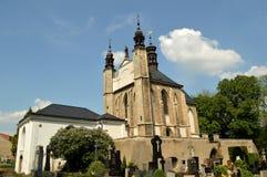 Église de cimetière de Sedlec d'ossuaire de tous les saints dans Kutna Hora, République Tchèque Photos stock
