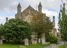 Église de cimetière et de St Thomas, Rye image stock