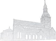 Église de dôme de Riga illustration de vecteur