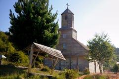 Église de Detif chez Chiloe, Chili Photographie stock libre de droits