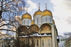 Église de Dormition à Moscou Kremlin Site de patrimoine mondial de l'UNESCO Images stock