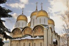 Église de Dormition à Moscou Kremlin Site de patrimoine mondial de l'UNESCO Photos libres de droits