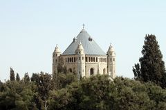 Église de Dormition, Jérusalem Image stock