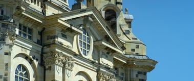 Église de Dresde Frauenkirche littéralement de notre Madame photo stock