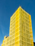 Église de façade de rénovation Photo stock