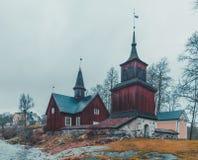 Église de Fagervik, premières parties de l'église où construit 1737 Photos libres de droits