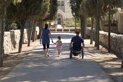 Église de fauteuil roulant image libre de droits