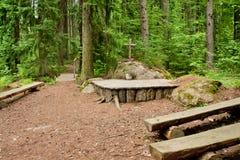 Église de forêt en Finlande Image libre de droits