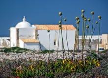 Église de forteresse de Sagres, Sagres, Portugal Photographie stock libre de droits