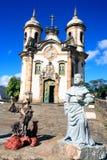 Église de Francisco de Assis de sao d'Igreja d'Ouro Preto Brésil Photo libre de droits