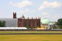 Église de Friedrichswerdersche avec l'échafaudage Photos stock