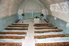 Église de glace en Roumanie Image stock