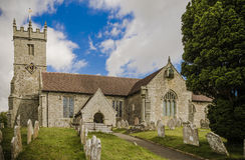Église de Godshill Photographie stock