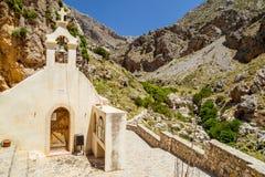 Église de gorge de Kourtaliotiko Images stock