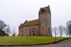 Église de Gumlosa dans le skane du nord Images libres de droits