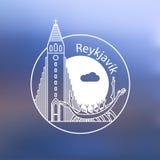 Église de Hallgrimskirkja - le symbole de l'Islande, Reykjavik Photos stock