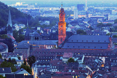 Église de jésuite à Heidelberg Photo libre de droits
